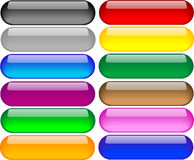 Set of Coloured Buttons. For webdesign use with posibillity of custom text vector illustration