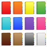 Set of coloured diarys. Set of color diarys and organizer Royalty Free Stock Image