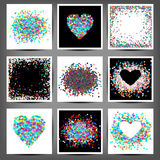 Set of coloured frames from confetti Stock Image