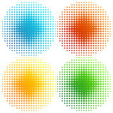 Set of coloured halftones Royalty Free Stock Photography