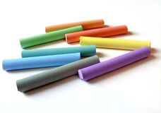 A set of coloured pastels Stock Photos