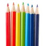 Set of coloured pencils Royalty Free Stock Images