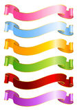Set of the coloured ribbons. For the design of christmas backgrounds Royalty Free Stock Images