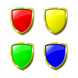 Set of Coloured Shields Royalty Free Stock Photos