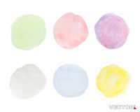 Set of colourful abstract watercolor art paint Royalty Free Stock Photo