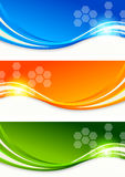 Set of colourful banners Stock Photo