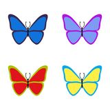 Set of colourful butterflies on white background.. Vector illustration. eps10 vector illustration