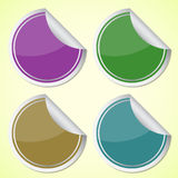 Set of colourful circle stickers Royalty Free Stock Photography