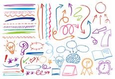 A Set of Colourful Doodle Symbol. Illustration Stock Illustration