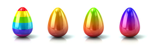 Set of colourful Easter eggs Royalty Free Stock Image