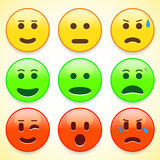 Set of colourful emoticon icons Stock Photos