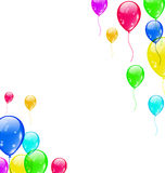 Set colourful flying balloons for your party Royalty Free Stock Photos