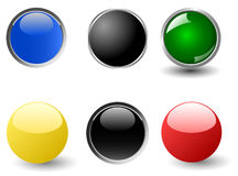 Set of colourful glossy balls Royalty Free Stock Images