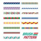 Set colourful linia wzór Obraz Royalty Free