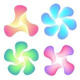 Set of colourful mesh logotypes Royalty Free Stock Image