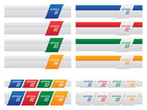 Set of Colourful Option Labels and Tabs Template Royalty Free Stock Photos