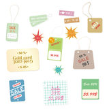Set of colourful price tags Royalty Free Stock Images