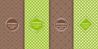 Set of colourful seamless patterns vector illustration