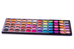 The set of colourful shadow for make-up isolated on white Stock Photography