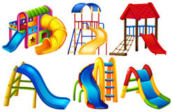 Set of colourful slides. On a white background Royalty Free Stock Images