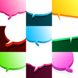 Set of colourful speech bubbles Royalty Free Stock Image
