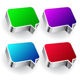 Set of colourful speech icon isolated on white bac Royalty Free Stock Image