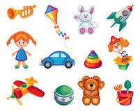 Set of  Colourful Toys Stock Photo