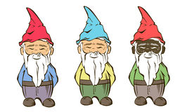Set of colourful Vector garden gnome.For  services logo Stock Photo
