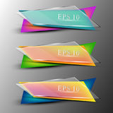 Set of colourfull transparent banners Royalty Free Stock Photo