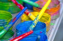 Set colours malować tęczę fotografia royalty free