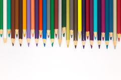 Set of colours pencils on white background Royalty Free Stock Image