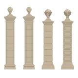 Set of column 3 Stock Photo