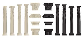 Set of columns 2 Stock Image