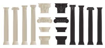 Set of columns 2 Stock Image