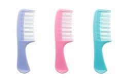Set of comb isolated on white background Stock Photo