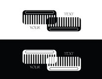 Set of comb. Set of two comb on white and black background vector illustration