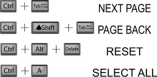 Set of combination button keyboard Royalty Free Stock Image