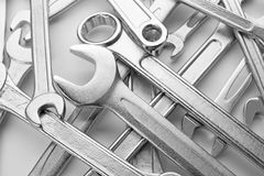 Set of combination wrenches Royalty Free Stock Photography