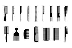 Set of combs,  illustration Stock Photo
