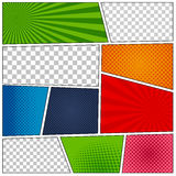 Set of comic book backgrounds Royalty Free Stock Photography