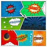 Set of comic book design elements Stock Image