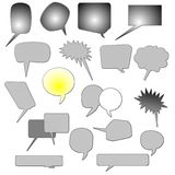Set comic book text bubbles, speech bubble Royalty Free Stock Image