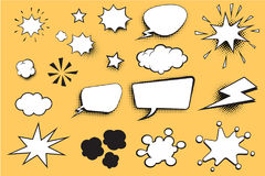 Set comic bubble Royalty Free Stock Images