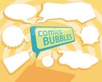 Set of comic bubbles Stock Image