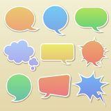 Set of comic bubbles Royalty Free Stock Image