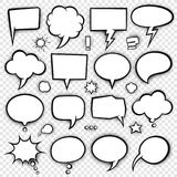 Comic bubbles and elements 4 Stock Images