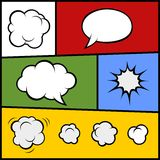 Set of Comic Bubbles and Elements. Vector Stock Images