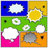 Set of Comic Bubbles in Pop Art Style Stock Photos