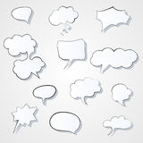 Set of comic 3d speech bubbles icon. Thought bubble Vector image Eps Royalty Free Stock Photos