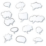 Set of comic 3d speech bubbles icon. Thought bubble Vector image Eps Royalty Free Stock Image